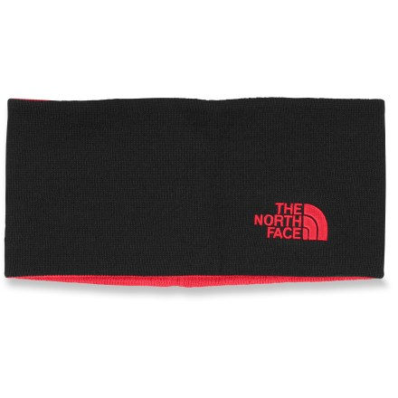 The Chione headband from The North Face is reversible to give you 2 great looks in 1. Acrylic fabric has a soft hand. Includes an embroidered logo on 1 side and jacquard logo on the other. - $16.93