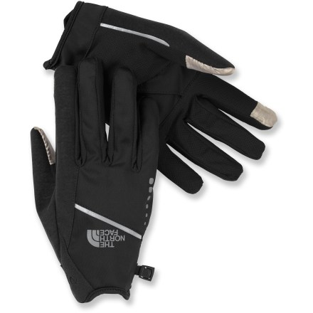 Fitness The North Face Runners gloves have wind-resistant fabric on the backs of the hands and a breathable mesh on the palms to strike the perfect balance on cool days. - $9.83