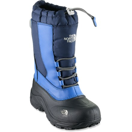 The waterproof Alpenglow II winter boots from The North Face offer protection from chilly winter weather in a convenient slip-on design. - $26.83