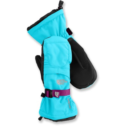 The North Face Montana mittens provide the insulated and waterproof protection girls need for alpine fun in cold, wet weather. - $50.00