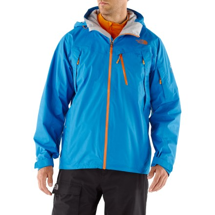 Ski Developed from years of athlete feedback and experience, the waterproof, breathable The North Face Terkko jacket is a hard working shell for all of your wintery, backcountry adventures. Waterproof 2-layer Gore-Tex(R) laminate construction uses moisture-wicking, brushed fabrics to create a very breathable garment. Fully taped seams prevent water from penetrating through seams. Fully adjustable hood protects you in stormy weather; roomy enough to fit over your helmet. Embedded RECCO(R) reflector enhances radio signals from search-and-rescue RECCO detectors for quicker acquisition of position in an avalanche. Powder skirt helps seal out cold air and snow entry; pant-a-locks tabs let you connect the powder skirt to compatible pants (sold separately) for a seamless protective barrier. Core vents feature polyurethane-coated zippers to dump excess heat and provide cooling ventilation while resisting the elements. Handwarmer pockets, a small chest pocket and a bicep pocket (with goggles cloth) keep accessories organized and feature waterproof, polyurethane-coated zippers. Internal storage options include a secure media pocket and a utility stash pocket. Drawcord hem and rip-and-stick cuffs seal out the elements and retain warmth. As part of The North Face Summit Series, the Terkko jacket features cutting-edge fabrics and the most advanced technology for the ambitious, technical skier or rider. - $223.93