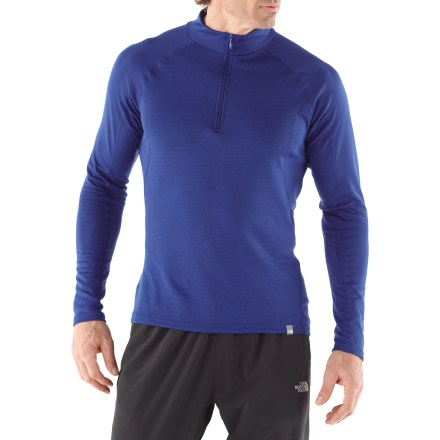 Featuring a comfort-enhancing front zipper, The North Face Warm Zip-T Neck top for men keeps you comfortable during activity in cold weather. - $29.83