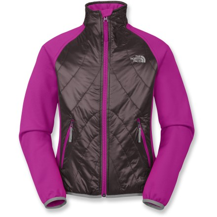 The North Face Animagi jacket keeps your girl warm when enjoying a brisk summer evening. Lightweight polyester outer shell with Heatseeker(TM) synthetic insulation delivers superb warmth for the core; nylon overlays for weather protection. Side panels and arms use a polyester fleece fabric to encourage exceptional breathability and moisture transport. Zippered handwarmer pockets keep little hands warm. The North Face Animagi jacket features elastic cuffs. Closeout. - $29.93