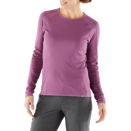 Use The North Face Light Crew Neck women's top to boost your warmth during adventures in cool weather. - $21.83