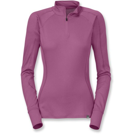 Featuring a comfort-enhancing front zipper, The North Face Light Zip-T neck top for women helps keep you warm during adventures in cool weather. - $24.83