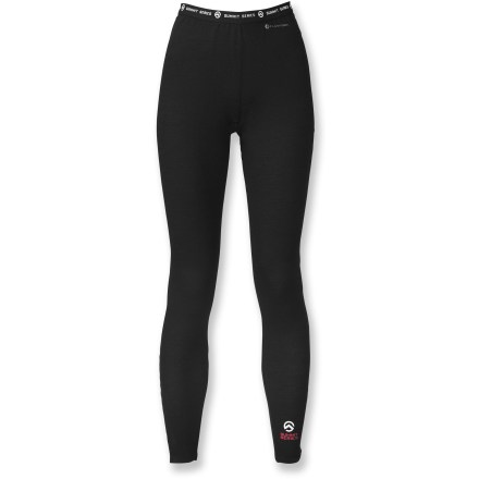 Offering best-in-class warmth and an expert fit, the women's Warm Merino long underwear tights from The North Face will help you go the distance. FlashDry(TM) micro-particles embedded in the fabric dramatically improve dry time and breathability. Made of crushed coconut shells and crushed volcanic rock, FlashDry micro-particles will not wash out. Moisture-wicking merino wool, polyolefin and polyester fabric naturally resists odors so you don't have to worry about post-activity funkiness. You'll move without restriction thanks to the stretchy fabric and flat seams that are designed to enhance motion. The North Face Warm women's Merino long underwear tights offer a relaxed next-to-skin fit. - $55.93