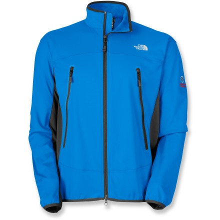 Ideal for aerobic assaults in windy conditions, The North Face Cipher jacket is windproof front and back. The side panels are made of stretchy fabric for easy motion. Gore WindStopper(R) eliminates windchill, yet is breathable and dissipates excess moisture quickly so you stay dry and warm; Durable Water Repellent finish sheds moisture. Underarm/side panels are made of soft-shell fabric with 4-way stretch; it increases breathability and mobility, and decreases bulkiness. Smooth reverse-coil center front zipper has an internal windflap; brushed chin guard lining is soft next to skin. The North Face Cipher jacket features elastic-bound hem and cuffs. Hand pockets are easy to access with a harness and pack on. Alpine fit enhances performance. The North Face Summit Series(TM) apparel is designed and tested for use in harsh environments. Closeout. - $99.93