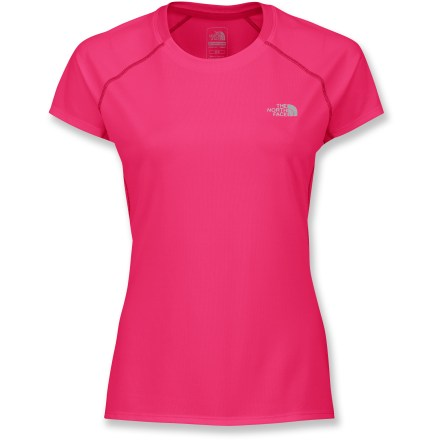 Fitness The North Face GTD top is built for runners looking for comfort and performance. VaporWick(TM) fabric moves away moisture and sweat from the skin to the outer surface where it can rapidly evaporate. Body-mapped ventilation offers airflow. Fabric provides UPF 30 sun protection, shielding skin from harmful ultraviolet rays. Reflective logos increase visibility. Closeout. - $18.83