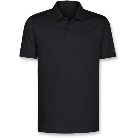 In casual settings, show your love for all things outdoors with the Logo Polo shirt from The North Face. Cotton fabric is naturally soft, breathable and comfortable. 2-button placket. Closeout. - $28.93