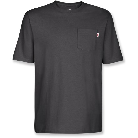 Entertainment Like pockets? Choose the Pocket Crew T-shirt from The North Face and be prepared for your day. Cotton fabric is naturally soft, breathable and comfortable. Chest pocket. Closeout. - $19.93