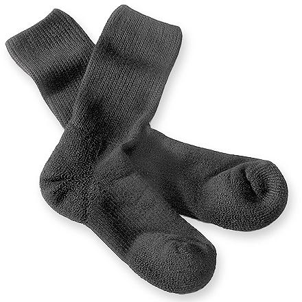 Fitness Thorlo Walking crew socks feature medium-density fabric under the heels and balls of feet that helps absorbs shock and prevent blisters. - $9.93