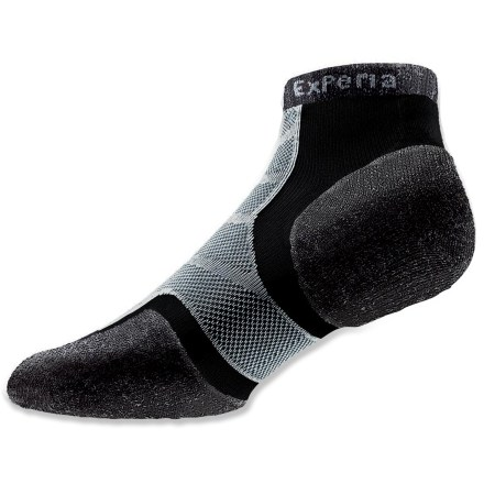 Fitness Powered by Thorlo padding and tailored for performance and minimal bulk, the Experia Merino Wool/Silk running socks supply support and moisture movement for great comfort. - $11.93