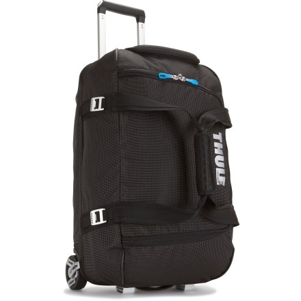 Entertainment The Thule Crossover 56L wheeled duffel is the ideal wide-mouth gear bag--it easily loads helmets, boots, gloves, clothing and other gear essentials. - $289.95