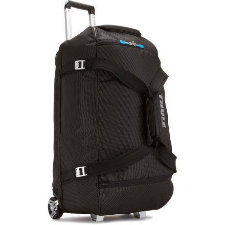 Entertainment The Thule Crossover 87L wheeled duffel is the ideal wide-mouth gear bag--it easily loads helmets, boots, gloves, clothing and other gear essentials. - $299.95