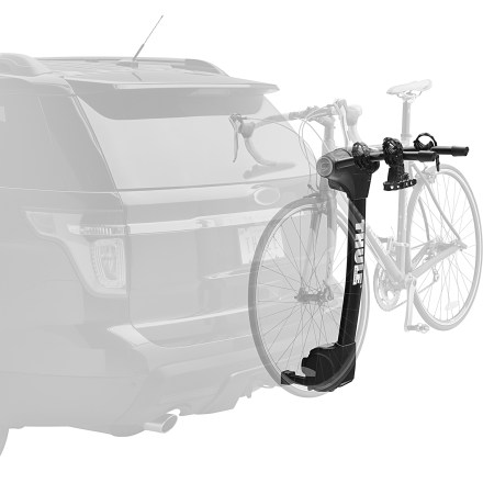 Fitness The new Thule Vertex 2 bike hitch rack carries up to 2 bikes and is easy to load and unload with the unique arc design that provides better ground clearance and creates greater distance between bikes. - $199.93