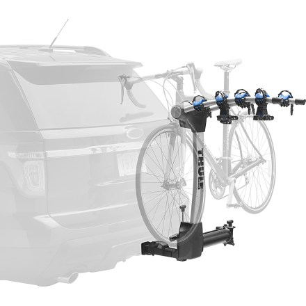 Fitness The Thule Apex Swing 4 bike hitch rack carries up to 4 bikes and is easy to load and unload with the unique arc design that provides better ground clearance and creates greater distance between bikes. - $519.95