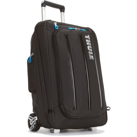 Camp and Hike Like to travel with your laptop? Roll the Thule Crossover 38L luggage through the airport or carry it on with hideaway backpack straps. Either way, your laptop goes with you in its own compartment. - $224.93