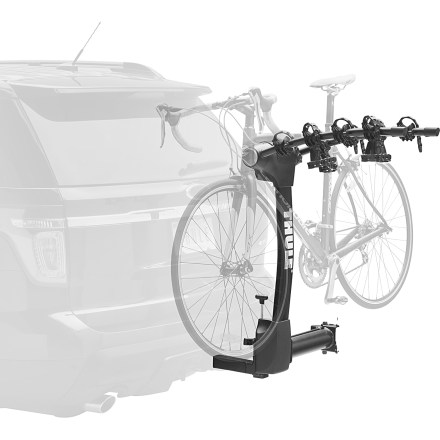 Fitness The new arc design of the Thule Vertex Swing 4 bike hitch rack securely carries up to 4 bikes and offers greater distance between bikes and better ground clearance than previous Thule hitch racks. - $399.95