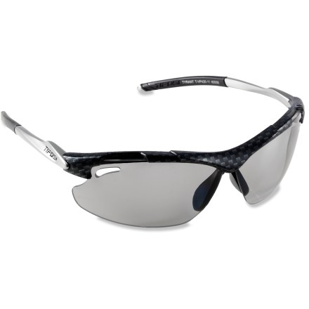 Entertainment Great for running, biking and sailing, Tifosi Tyrant polarized photochromic sunglasses feature lenses that automatically adjust their tint, so you can perform without interruption. - $59.83