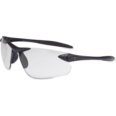 Entertainment Playing or working in the sun all day, the Tifosi Seek FC photochromic sunglasses have you covered. The lenses automatically adjust as you move from the sun to the shade. - $69.95