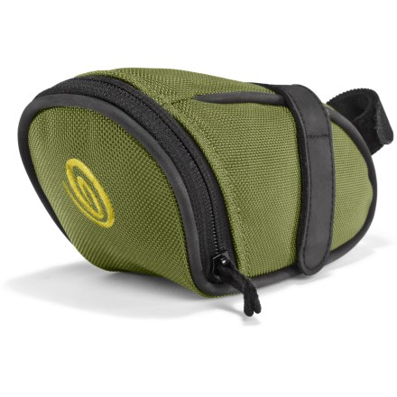 Fitness The Timbuk2 Bike Seat pack is a willing passenger, ready to ride whenever you are. Holds ID, power gel, keys and a 20-spot; key ring tether inside. Built from rugged ballistic nylon with durable rubberized piping. VELCRO(R) brand strap attaches securely to any bicycle's seat post. - $11.83