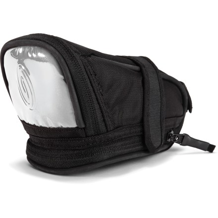 Fitness Expandable and highly reflective, the Timbuk2 Lightbrite seat pack offers versatile storage and excellent weather resistance for your riding essentials. Constructed out of coated nylon for excellent protection from the elements; large reflective panel increases your visibility in low light. Interior features a key tether and stretch holster strap to secure a smart phone; compartment can be expanded for extra capacity when needed. Quickly attaches to seatpost and saddle rails with rip-and-stick straps. - $30.00