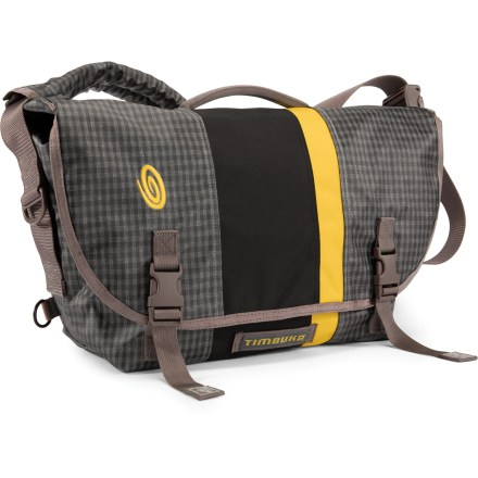 Entertainment The Medium-size D-LuxTimbuk2 Multistripe Messenger bag works with and without your machine and on and off your bike. Sharp Indie Plaid colorway looks amazing. Multistripe Messenger offers a comfortable portage for your daily rides on and off the internet. Crater laptop sleeve uses a mesh-protected, high-density foam with crater holes for extreme protection mimus the bulkiness; the holes also circulate air to cool the laptop. Also includes a padded iPad(R) compartment. Rear waterproof zipper allows quick access to laptop and main compartment. 3-zip front organizer with color-coordinated zippers helps you remember what goes where. Side-entry Napoleon pocket allows you to grab your cash and keys without opening the messenger flap; zipper closure keeps your goods safe. Modular internal organization offers storage for gadgets and gizmos. Memory-adjust True Fit cam buckle eliminates daily fit adjustments; just unclick the cam, put the bag over your shoulder and lock the cam in for a perfect fit every time. Coordinating strap pad is included. Cross strap stabilizes the Timbuk2 D-Lux Stripe Messenger while riding; grab strap for easy lifting. Made from a durable ballistic nylon exterior and waterproof thermoplastic urethane interior. Rip-and-stick attachment points along the top of the messenger flap and sides of the front panel provides easy opening and closing functions; it also reduces clothing hangups. Compression straps on the bottom compress and expand your load. Timbuk2 also optimized the D-Lux for adding internal and external organizers and accessories (not included), letting you modify the bag to meet your needs. - $95.93