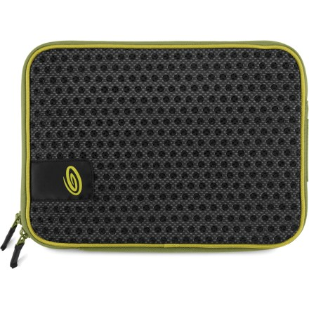 "Entertainment The Timbuk2 Crater laptop sleeve supplies ventilated protection and carrying convenience for most 11 in. laptop computers and netbooks. ""Crater"" holes help circulate air to keep your laptop cool while it's in the sleeve. Fully padded main compartment features an L-shaped zipper for easy access to your laptop. The Timbuk2 Crater laptop sleeve is constructed with high-density foam and rugged nylon to deliver solid protection and durability. - $25.93"