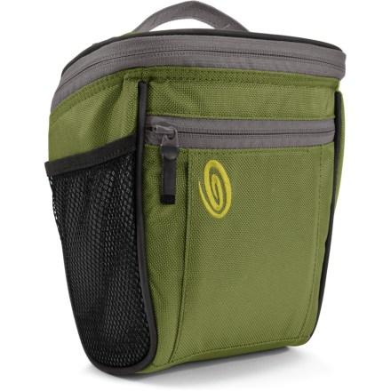 Entertainment The Timbuk2 Sneak camera case helps you keep your expensive DSLR incognito with its low-profile design. Durable ballistic nylon exterior and soft tricot-lined interior cradle your camera and help prevent it from bumps and scratches. Internal and external mesh pockets are perfect for memory cards and battery packs. Separate zippered pocket holds lens filters or other accessories. The Timbuk2 Sneak camera case features a grab handle and removable shoulder strap. - $33.93