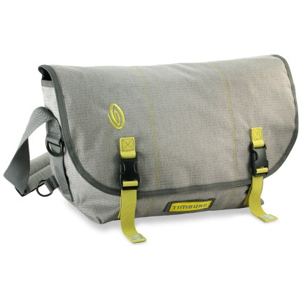 Fitness Timbuk2 Full-Cycle medium-size messenger bag incorporates recycled materials into its construction while offering all the performance and style of the famed classic messenger bag. Full-Cycle messenger bag is constructed out of recycled PET made from old plastic bottles; other components have been recycled or reground (except zippers). Internal slash pocket against the back wall of the bag provides a padded, firm place to store your files and laptop; fits most laptops with screens up to 15 in. Adjustable shoulder strap has a sturdy quick-release buckle, so you can dial in the fit and then leave it-unclick buckle to take bag off; no need for strap readjustment. Front organizer panel and internal pockets organize your stuff; side-entry Napoleon zip pocket offers easy access to contents without having to open front flap. Timbuk2 Full-Cycle messenger bag comes with reflector tails and safety flasher attachment loop (flasher sold separately). - $73.93