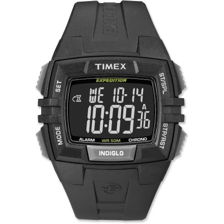 Entertainment This Timex Expedition watch boasts a classic design that offers rugged style along with a full suite of handy features for your front-country and backcountry adventures. - $44.93