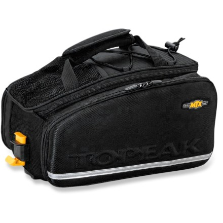 Fitness Whether you're riding a road or mountain bike, this rear, rack-mounted storage bag is great for commuting, errands and touring-this one has expandable side pockets. - $59.93