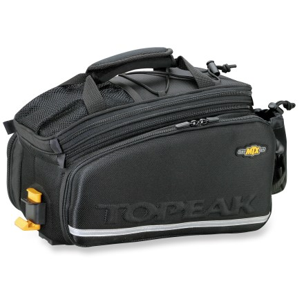 Fitness The versatile Topeak MTX TrunkBag DXP has an expandable top and fold-down side panniers to accommodate extra gear. - $74.93