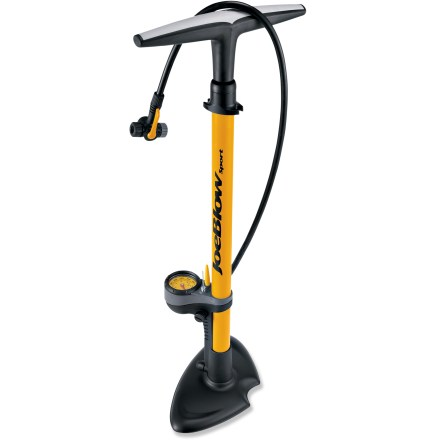 MTB The Topeak JoeBlow Sport sloor pump is an easy-to-use, twin-head floor pump that features a steel barrel and base for durable stability to make inflating tires a breeze. - $49.95