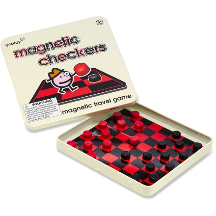 Camp and Hike This Magnetic Checkers travel game from Toysmith puts a fun twist on a classic game that travels well for road trips, airplane rides and general on-the-go fun. - $4.93