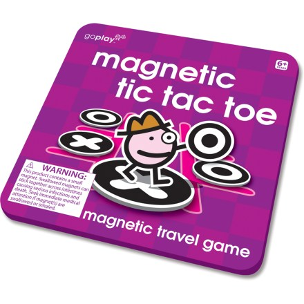 Camp and Hike This Magnetic Tic Tac Toe travel game from Toysmith puts a fun twist on a classic game that travels well for road trips, airplane rides and general on-the-go fun. - $4.93