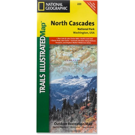Camp and Hike This Trails Illustrated folded map offers comprehensive coverage of North Cascades National Park in Washington. - $11.95