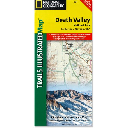 Camp and Hike This National Geographic Trails Illustrated folded map offers comprehensive coverage of California's Death Valley National Park. - $11.95