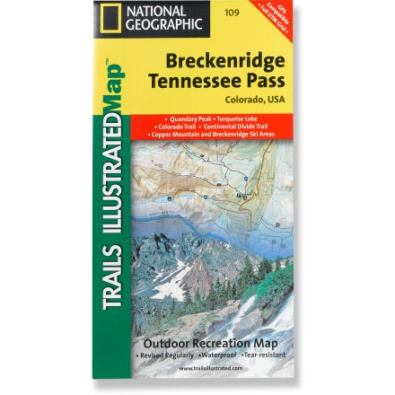 Camp and Hike This Trails Illustrated folded map offers comprehensive coverage of the Breckenridge and Tennessee Pass areas in Colorado. - $11.95