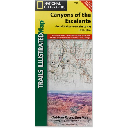 Camp and Hike This National Geographic Trails Illustrated folded map offers comprehensive coverage of the canyons of the Escalante in Utah. - $11.95