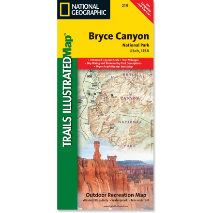 Ski This informative Trails Illustrated map will help you plan trips and explore the area in and around Utah's Bryce Canyon National Park. - $11.95