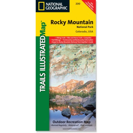 Camp and Hike This National Geographic Trails Illustrated folded map offers comprehensive coverage of Rocky Mountain National Park in Colorado. - $11.95