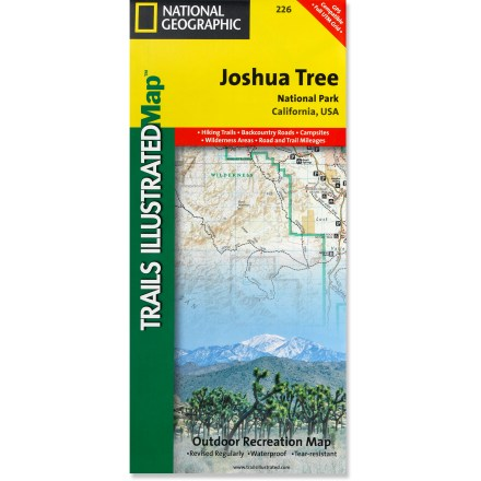 Camp and Hike This National Geographic Trails Illustrated folded map offers comprehensive coverage of Joshua Tree National Park in California. - $11.95