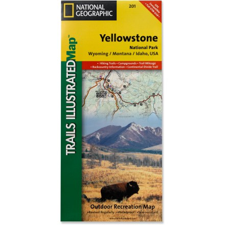 Camp and Hike This Trails Illustrated folded map offers comprehensive coverage of the unmatched splendor and unique natural features of Yellowstone National Park. - $11.95