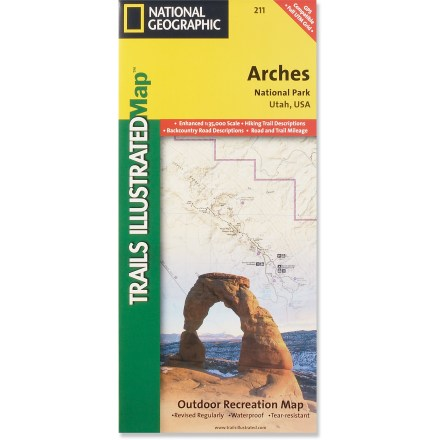 Ski This adventure-ready Trails Illustrated map offers comprehensive coverage of Utah's Arches National Park in colorful, vivid detail. - $11.95