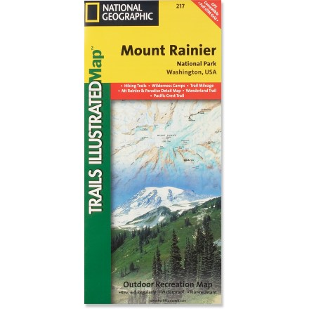 Camp and Hike This colorful Trails Illustrated folded map offers detailed coverage of Mount Rainier National Park in Washington State. - $11.95
