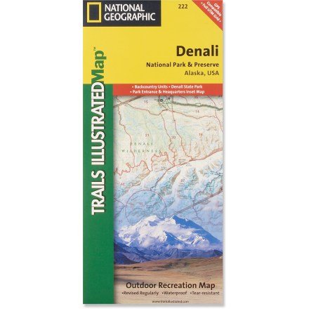 Camp and Hike This colorful Trails Illustrated folded map offers detailed coverage of Alaska's Denali National Park. - $11.95