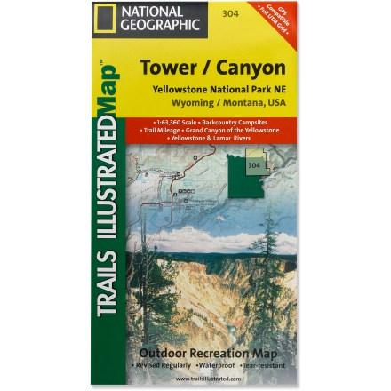 Camp and Hike This National Geographic Trails Illustrated folded map offers comprehensive coverage of the Tower and Canyon area of northeast Yellowstone. - $1.83