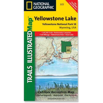 Camp and Hike This detailed Trails Illustrated folded map offers concise, colorful coverage of the Yellowstone Lake area of southeast Yellowstone National Park. - $9.95