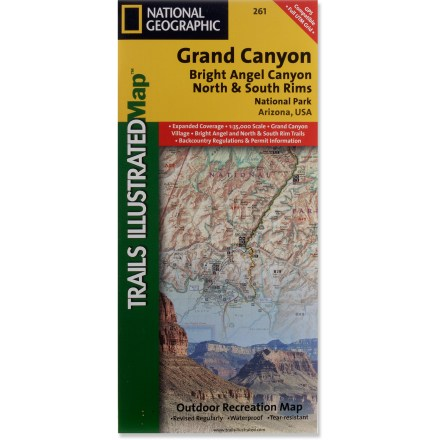 Camp and Hike This Trails Illustrated Grand Canyon National Park trail map offers comprehensive coverage of Bright Angel Canyon and the North and South rims. - $11.95